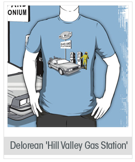Back to the Future Delorean 'Hill Valley Gas Station'