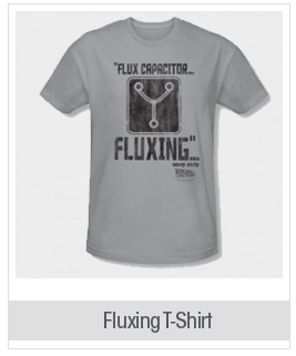 Back To The Future - Mens Fluxing T-Shirt In Silver