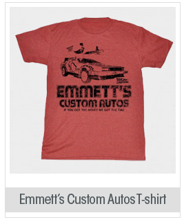 Back To The Future - Mens Emmett'S T-Shirt In Red Heather