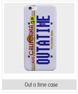 California Out a time back to the future license plate case