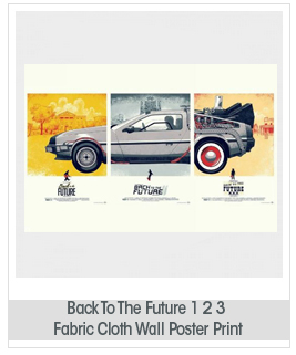 Back To The Future 1 2 3 Movie Car Nice Silk Fabric Cloth Wall Poster Print (36x24inch 20x13inch)