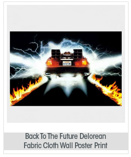 Back To The Future 1 2 3 Movie Car Nice Silk Fabric Cloth Wall Poster Print (36x24inch 90x60cm)