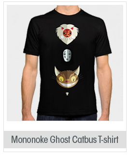 Society6 Men's Mononoke, Ghost Catbus T-Shirt