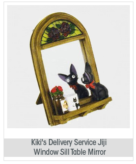 Studio Ghibli Kiki's Delivery Service: Jiji Window Sill Table Mirror