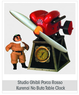Studio Ghibli Porco Ross Kurenai No Buta Table Clock
