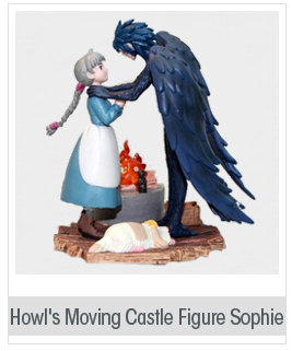 Japenese Anime Howl's Moving Castle Figure Sophie/Sofi and Howl/Hauru Figure