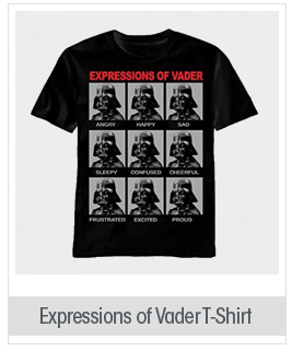 Star Wars Expressions of Vader Men's T-Shirt