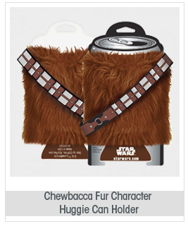 Star Wars Chewbacca Fur Character Huggie Can Holder 14006