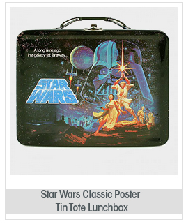 Star Wars Classic Poster Large Heavy-Duty Carry All Tin Tote Lunchbox Series 2