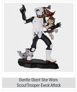 Gentle Giant Studios - Star Wars Animated statuette Scout Trooper Ewok Attack EE Exclus
