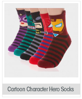 Dani's Choice Cute Cartoon Character Socks Hero Series