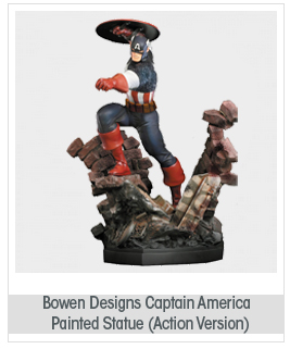 Bowen Designs Captain America Painted Statue (Action Version)