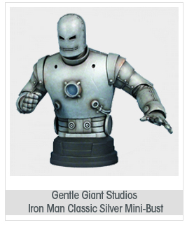 "Gentle Giant Studios Iron Man ""Classic Silver"" Mini-Bust"
