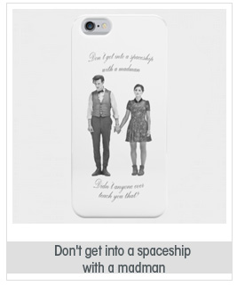 Don't get into a spaceship with a madman - Doctor Who iPhone 5 Case