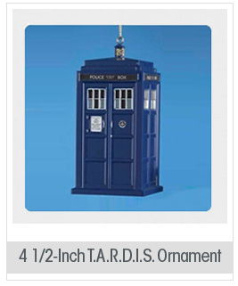 Doctor Who TARDIS 4 1/2-Inch Blow Mold Ornament