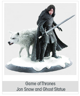 Dark Horse Deluxe Game of Thrones: Jon Snow and Ghost Statue