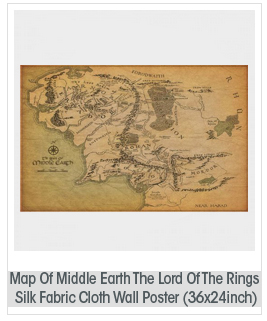 Map Of Middle Earth The Lord Of The Rings Nice Silk Fabric Cloth Wall Poster Print (36x24inch)