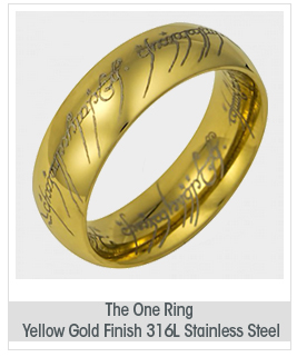 The One Ring: Yellow Gold Finish 316L Stainless Steel