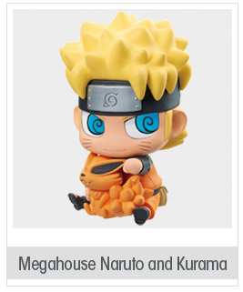 Megahouse Naruto Shippuden: Naruto and Kurama Chimimega Bank