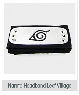 Naruto Headband Leaf Village Metal Plated Cosplay Accessories