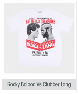 Rocky Balboa Vs Clubber Lang Licensed Graphic T-Shirt