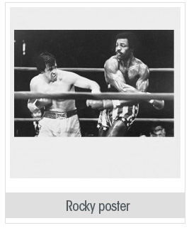Sylvester Stallone Boxing Carl Weathers Rocky Poster