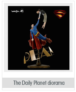 DC Comics SUPERMAN RETURNS: THE DAILY PLANET STATUE DIORAMA By WETA MAN OF STEEL