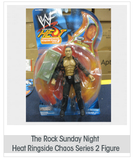 the ROCK (DWAYNE JOHNSON) WWE WWF Sunday Night Heat Ringside Chaos Series 2 Figure