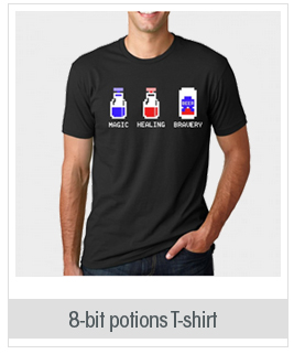 8-Bit Potions T Shirt Funny Video Game Shirt Gamer Tee