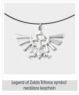 Legend of Zelda Triforce Symbol Cosplay Props Necklace/Keychain