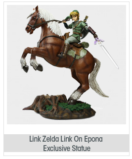 Zelda Link On Epona Exclusive Statue