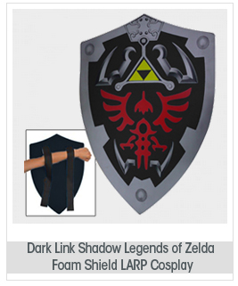 Dark Link Shadow Legends of Zelda Foam Shield LARP Cosplay