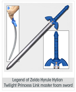 Legend of Zelda Accurate Nintendo Hylian Hyrule Twilight Princess Link Master Foam Sword LARP