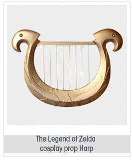 The Legend of Zelda cosplay prop Zelda harp