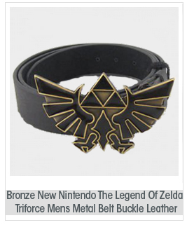 Bronze New Nintendo The Legend Of Zelda Triforce Mens Metal Belt Buckle Leather