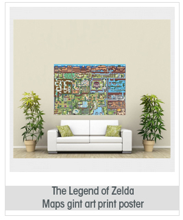 VIDEO GAMES THE LEGEND OF ZELDA MAPS GIANT ART PRINT POSTER X LARGE ST1191