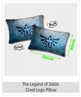 "The Legend of Zelda Crest Logo Pillow 24"" x 15"""